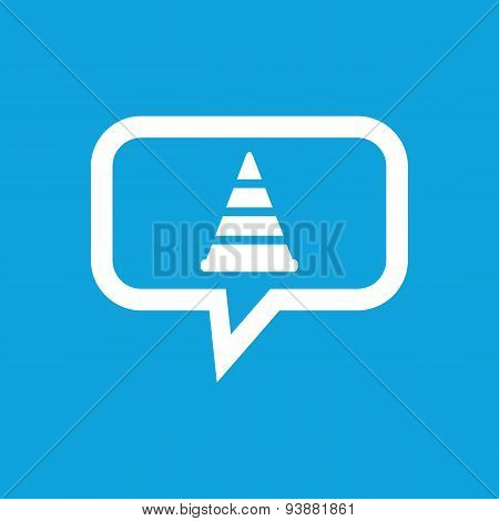 Traffic cone message icon