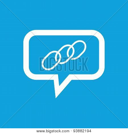 Chain message icon
