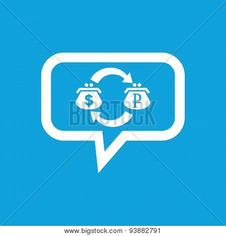 Dollar-ruble exchange message icon