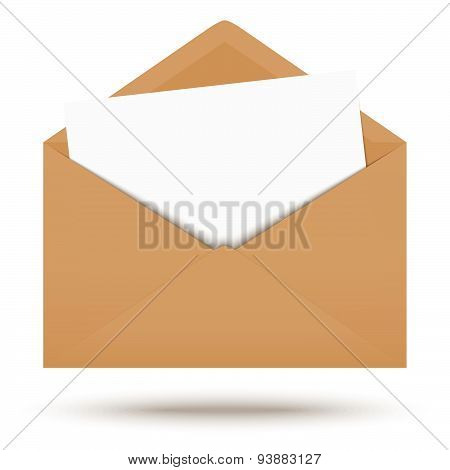Colored Envelope With White Note