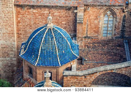Domes Of Saint Mary Cathedral In Valencia, Spain