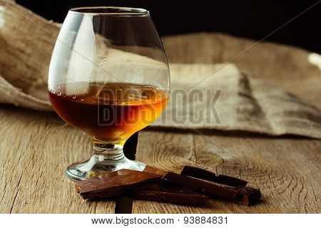 Brandy Glass And Chocolate