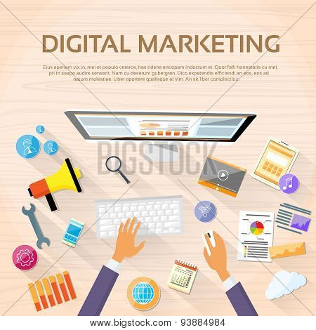 Digital Marketing Workspace Desktop Workstation