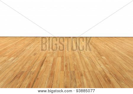 Close Up Timber Decking Isolated On White