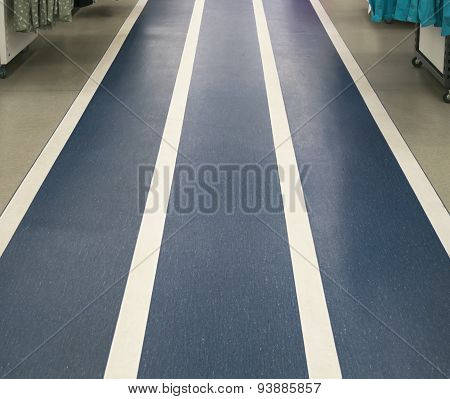 Three-lane Track Denim Color On The Floor