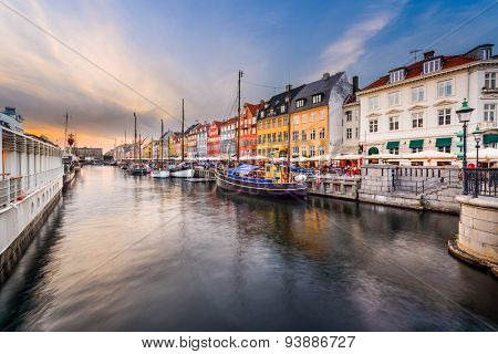 Copenhagen, Denmark cityscape on the Nyhavn Canal.