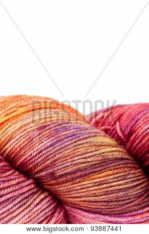 Colorful wool yarn ball