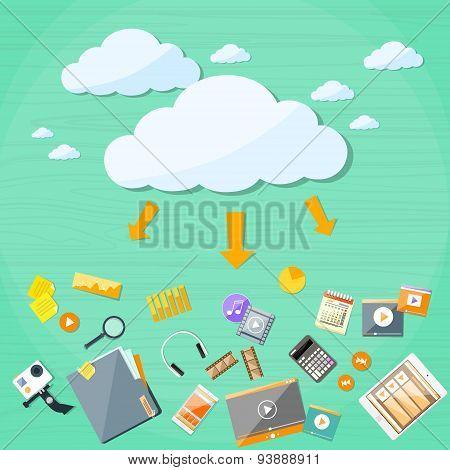 Cloud Technology Online Internet Data Information Storage