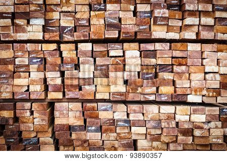 Stack Of Wood Logs For Background