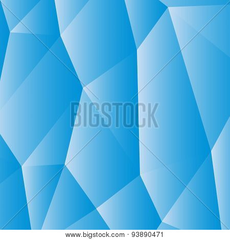 Blue White Polygonal Background