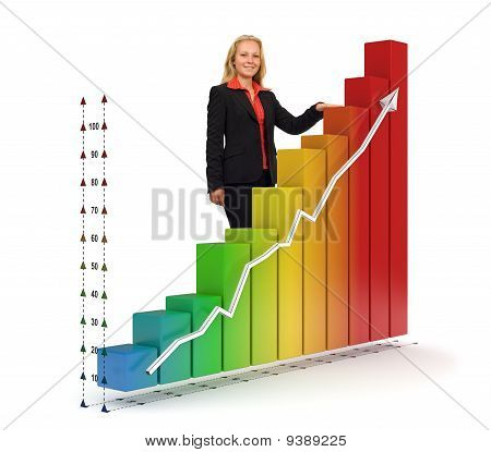 Business Woman - Financial Graph