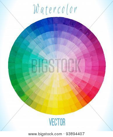 Watercolor  vector spectral circle