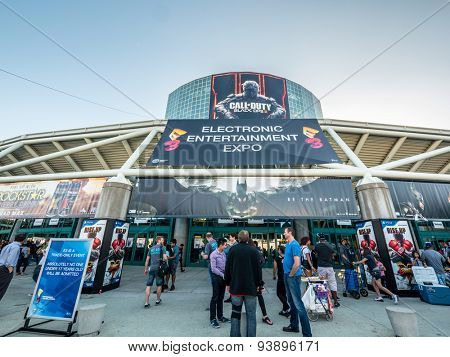 LOS ANGELES - June 17: Los Angeles Convention Center hosting E3 2015 expo. Electronic Entertainment Expo, commonly known as E3, is an annual trade fair for the video game industry