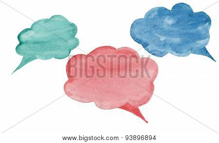 Cloud Colorful Watercolor Conversations For Different Occasions