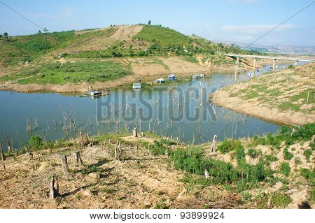 Vietnam Landscape, Mountain, Bare Hill, Deforestation
