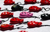 picture of castanets  - Set of colorful castanets looking like mice - JPG