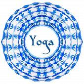 foto of yoga  - ector yoga illustration - JPG