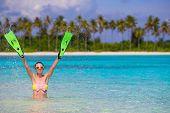 pic of fin  - Travel beach fun concept  - JPG