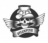 Постер, плакат: Steampunk Skull