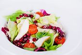 picture of iceberg lettuce  - salad with chicken - JPG