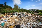 pic of landfills  - Close up Pile of domestic garbage in landfill - JPG