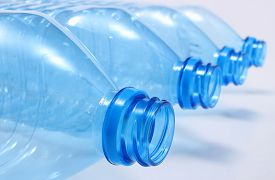 picture of plastic bottle  - Used plastic bottles of mineral water plastic waste environmental protection concept - JPG