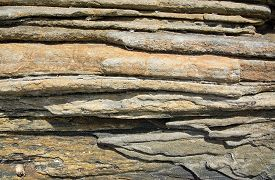 image of gneiss  - Gneiss abstract rock background horizontal with clear divisions Sri Lanka Asia - JPG