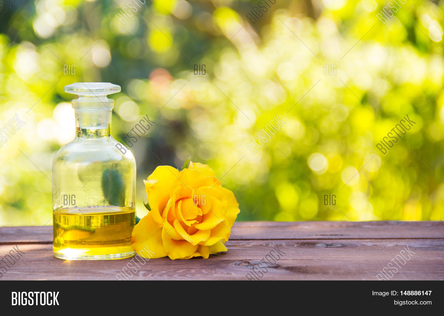 Essential Rose Oil Fragrant Yellow Image Photo Bigstock