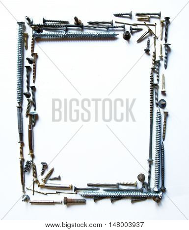 Decorative frame or background different objects screw-type photos for micro-stock