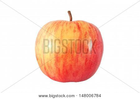 whole red apple isolated on white background with clipping path