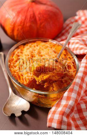 pumpkin baked,gratin