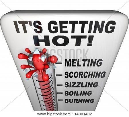 Thermometer - Mercury Rising Bursting - Heat Rising