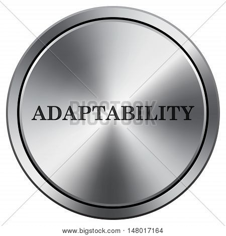 Adaptability Icon. Round Icon Imitating Metal.