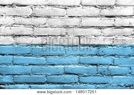 Flag Of Santa Marta, Colombia, Painted On Brick Wall