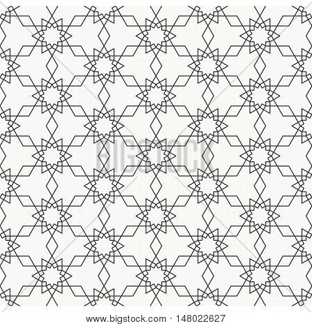 Arabesque, Seamless pattern line art in Moroccan style