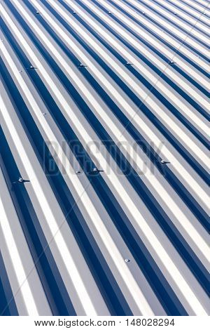 Corrugated Metal With Bolts For Roofing On Industrial Buildings