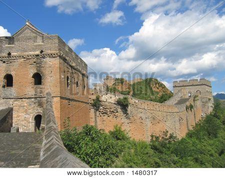 Detalle de la Gran Muralla China, China