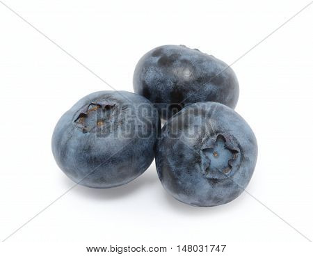 Heap of blueberry isolated on white background