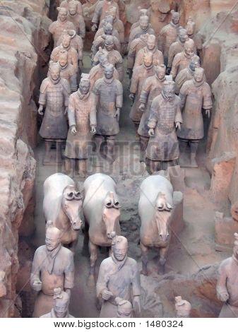 Detalle del ejército de guerreros de terracota, Zian, China
