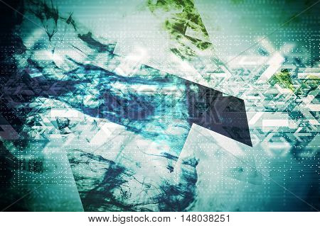 Abstract Technology Background. Hi Tech Abstraction Illustration