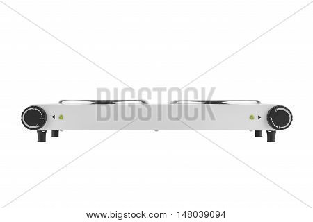 New white electric stove isolated on a white background