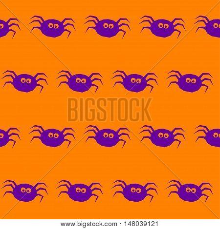 Halloween Spider Seamless Pattern Background.