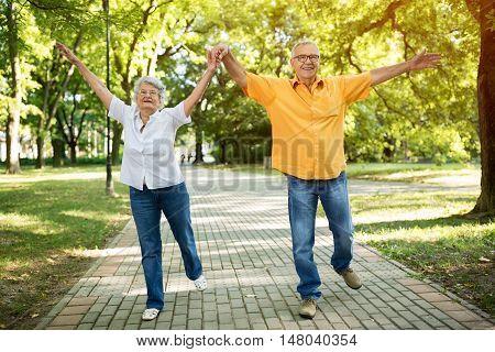 Funny Old Senior Couple