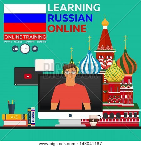 Learning Russian Online. Online Training. Distance Education. Online Education. Language Courses, Fo