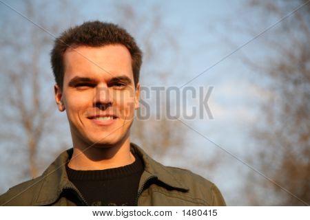 Guy On Spring Sky