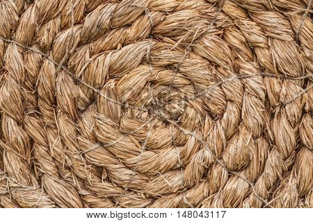 Closeup texture of brown wicker woven pattern for background