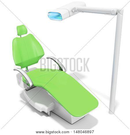 3D Modern Dental Chair And Light
