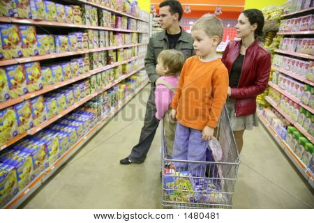 Family In A Shop