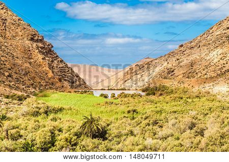Las Penitas Reservoir - Fuerteventura Canary Islands Spain Europe