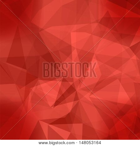 Red Light Polygonal Mosaic Background.  Business Design Templates. Triangular Geometric Pattern